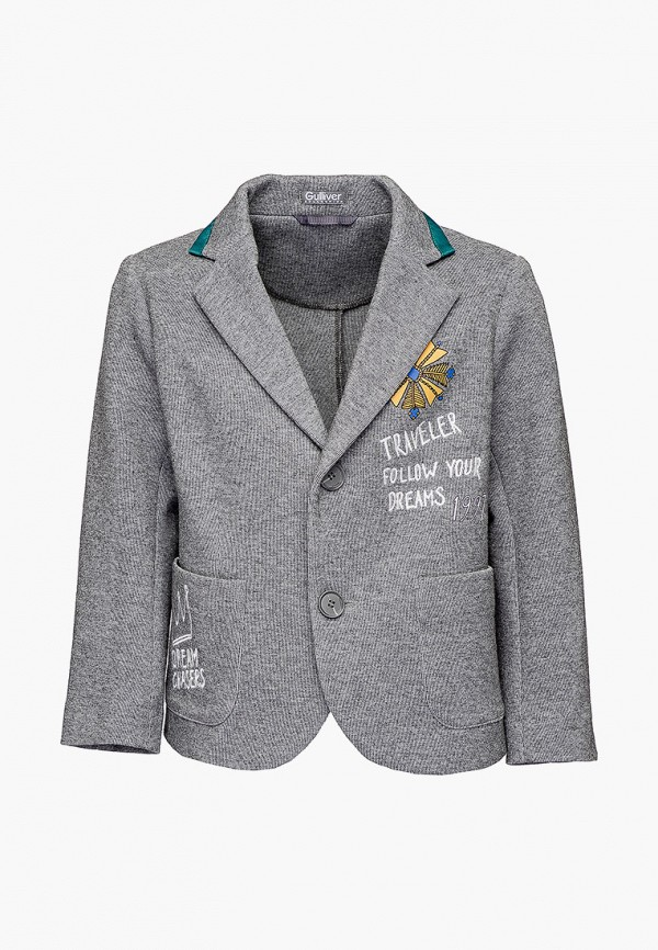 пиджак gulliver для мальчика, серый