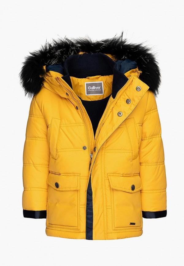 куртка gulliver для мальчика, желтая