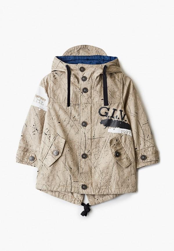 легкие куртка gulliver для мальчика, бежевая