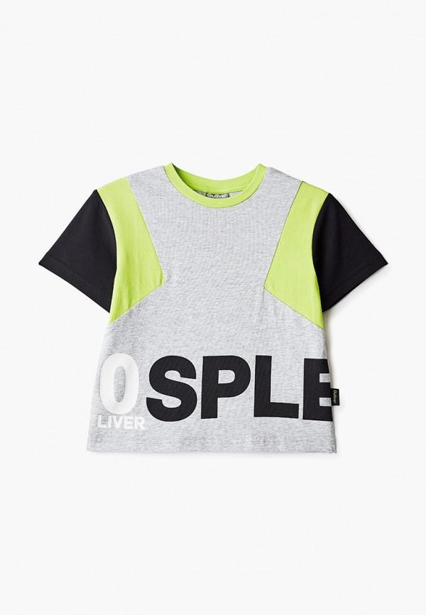 футболка с коротким рукавом gulliver для мальчика, серая