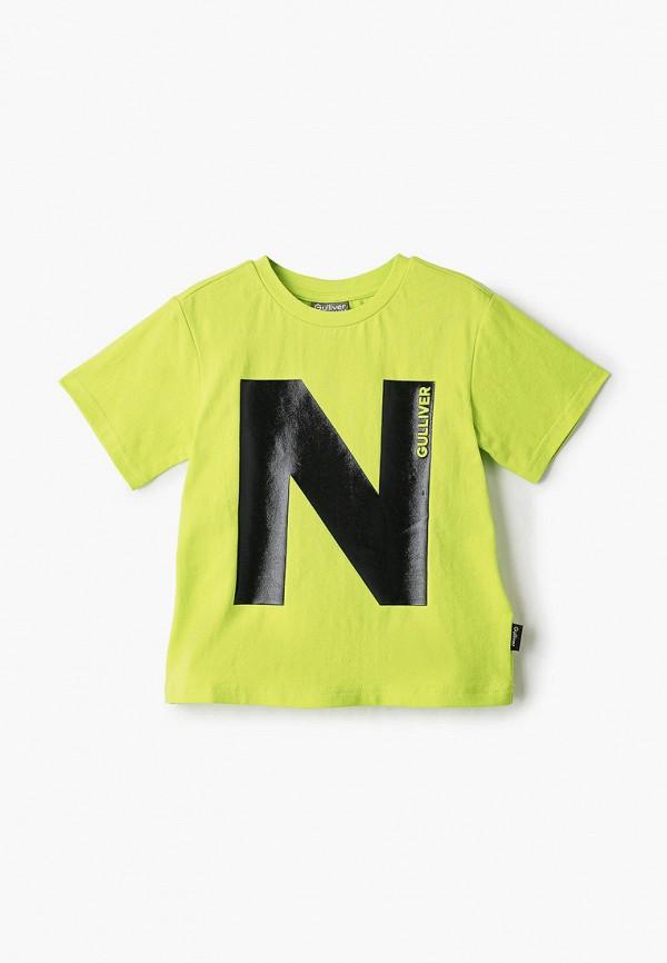 футболка с коротким рукавом gulliver для мальчика, зеленая