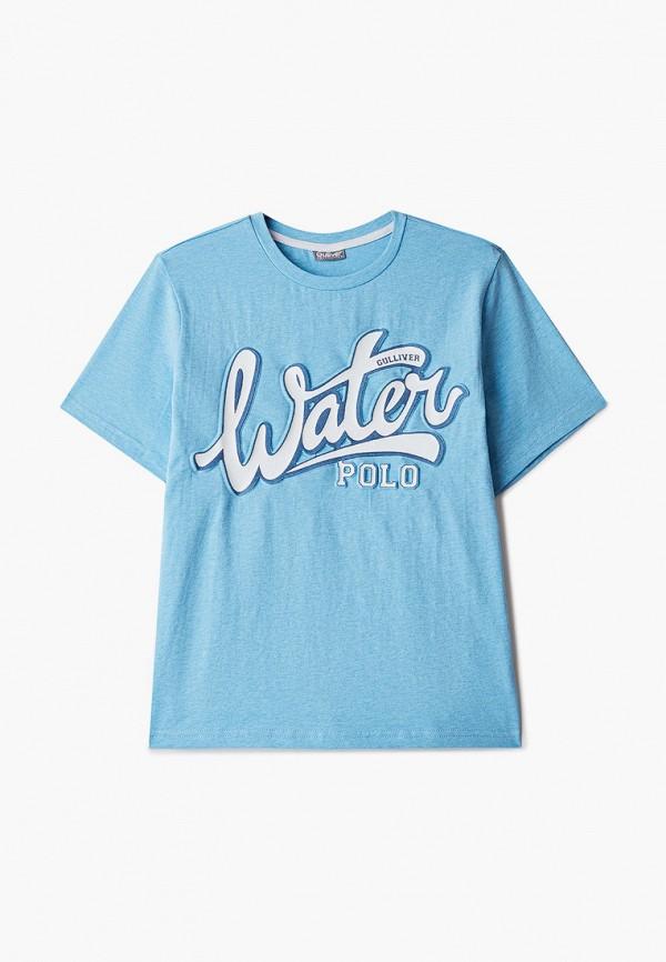 футболка с коротким рукавом gulliver для мальчика, голубая