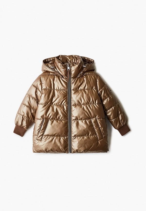 куртка gulliver для мальчика, золотая