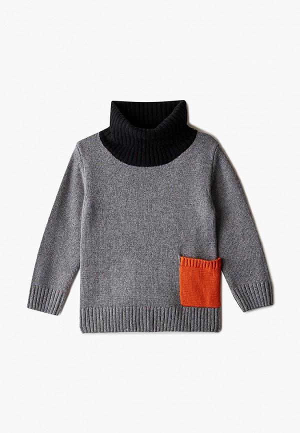 свитер gulliver для мальчика, серый