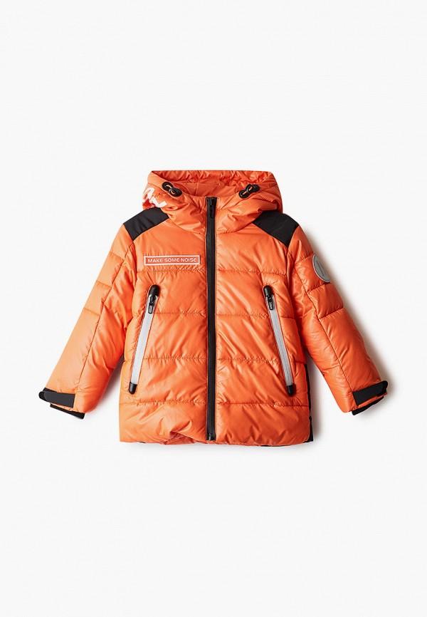 куртка gulliver для мальчика, оранжевая