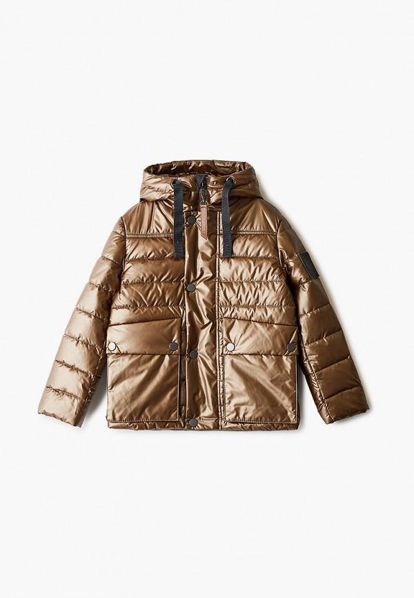 куртка gulliver для мальчика, коричневая