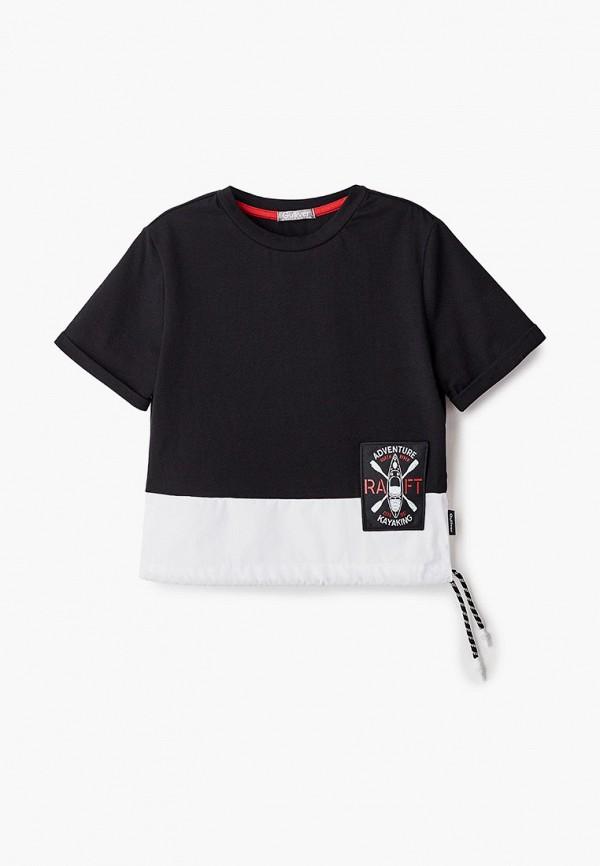 футболка с коротким рукавом gulliver для мальчика, черная