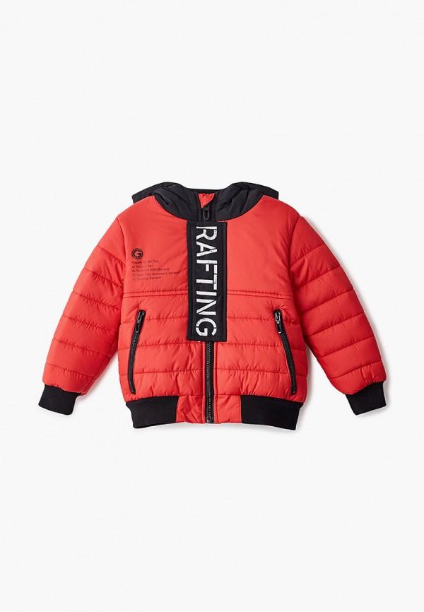 куртка gulliver для мальчика, красная