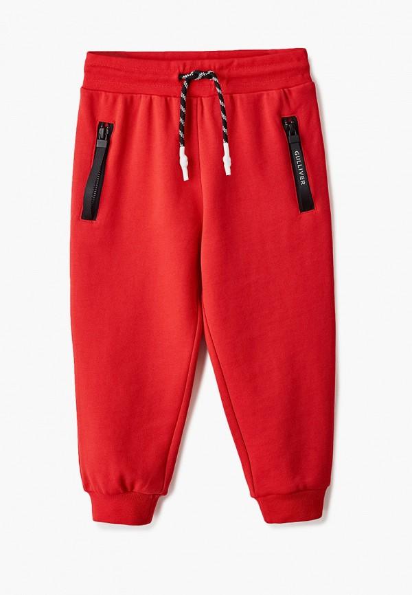 спортивные брюки gulliver для мальчика, красные