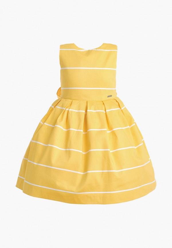 повседневные платье gulliver для девочки, желтое