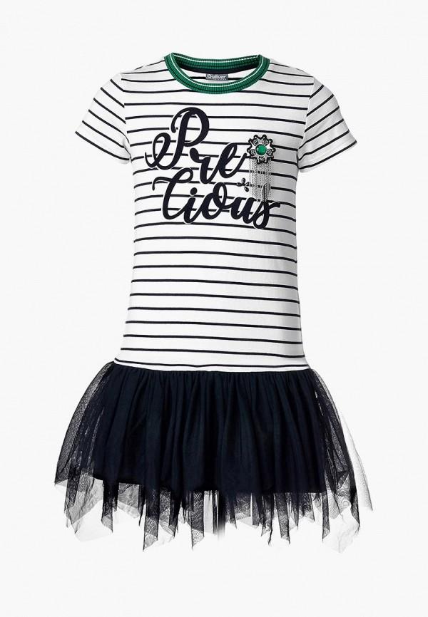 повседневные платье gulliver для девочки, белое