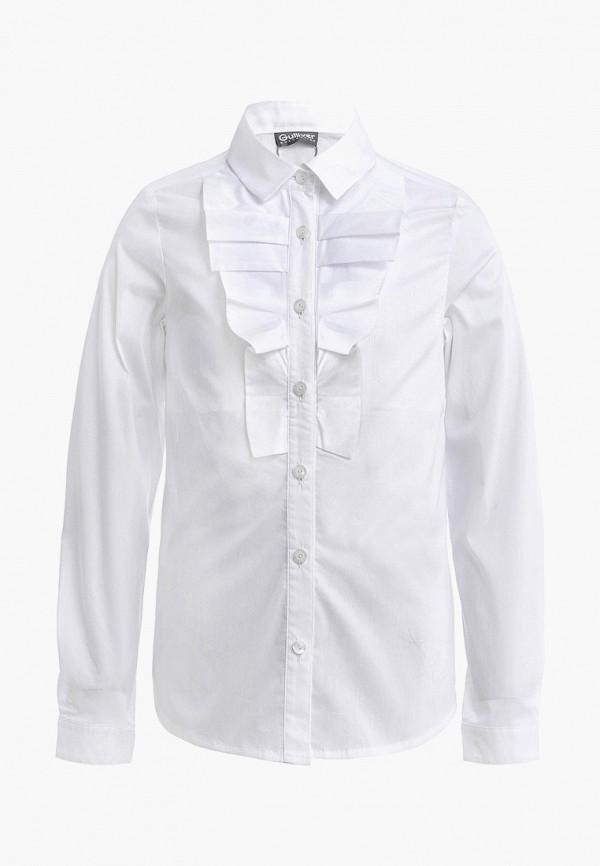 блузка gulliver для девочки, белая