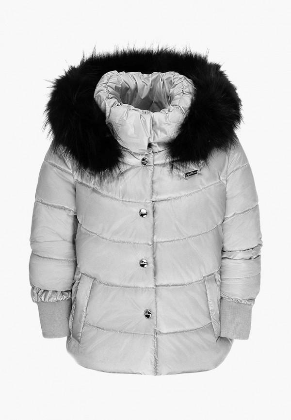 куртка gulliver для девочки, серебряная