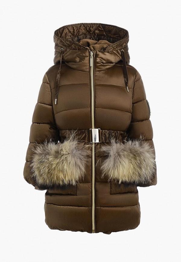 куртка gulliver для девочки, коричневая