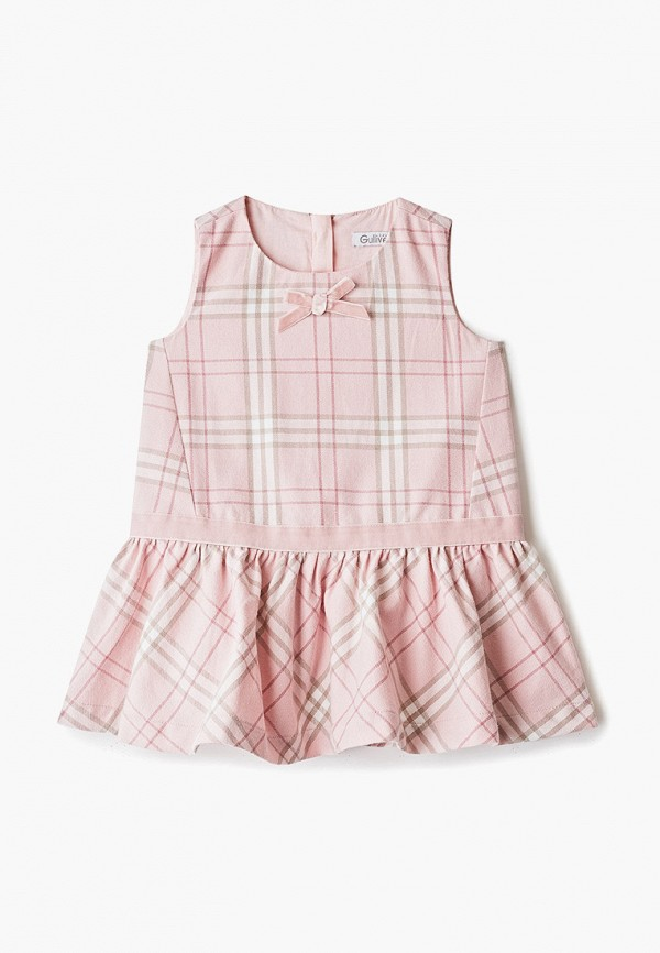 платье gulliver для девочки, розовое