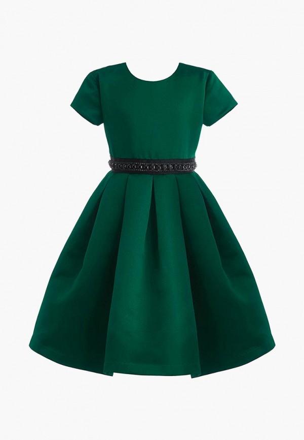 платье gulliver для девочки, зеленое