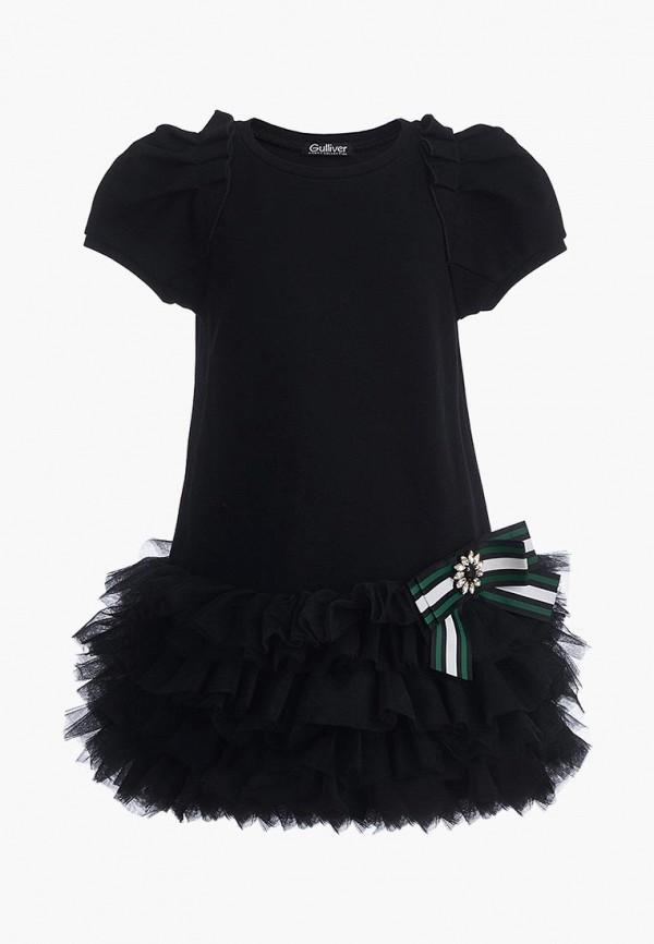 платье gulliver для девочки, черное