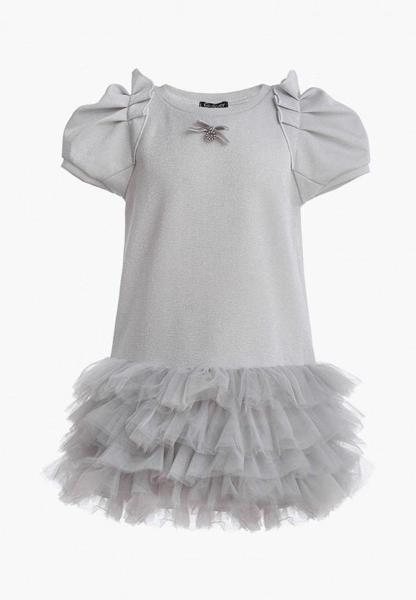 платье gulliver для девочки, серебряное