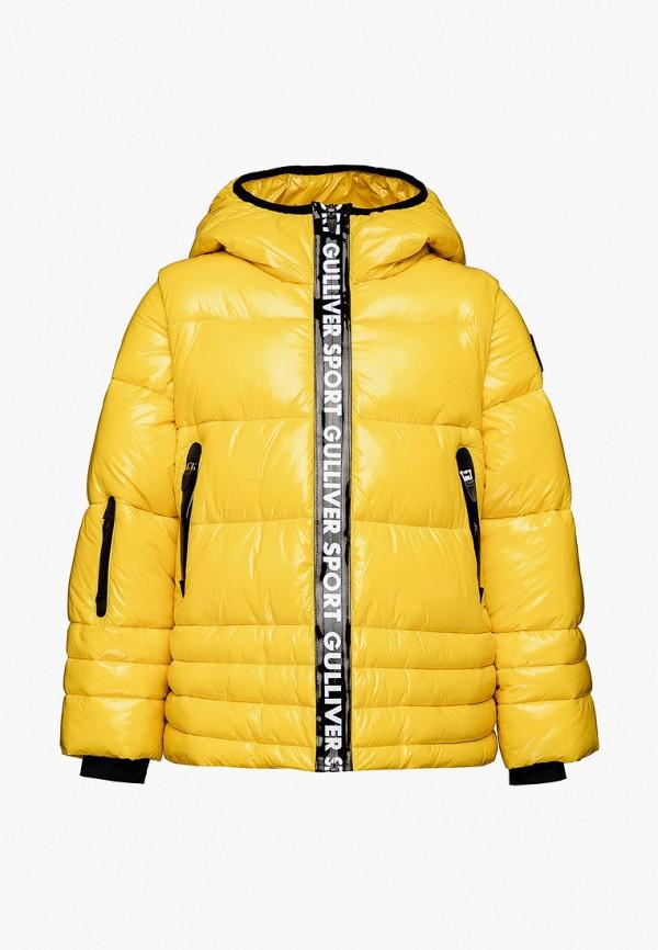 куртка gulliver для девочки, желтая