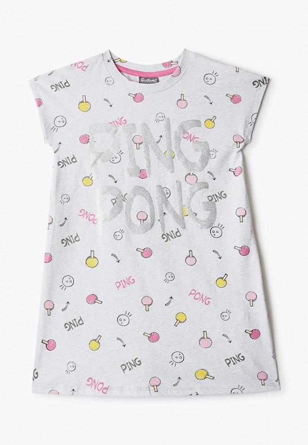 сорочка ночная gulliver для девочки, серые