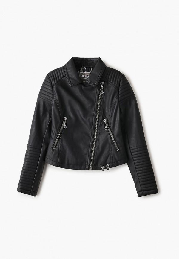 куртка gulliver для девочки, черная