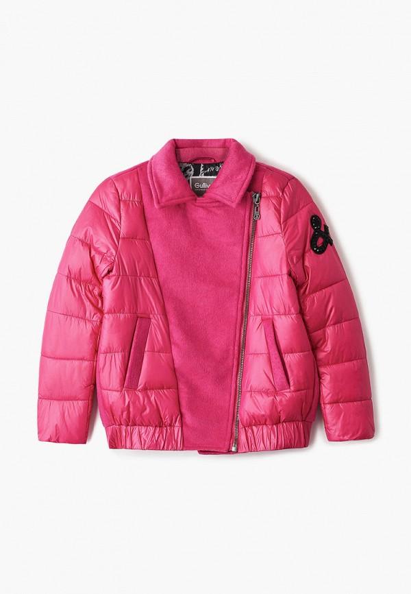 утепленные куртка gulliver для девочки, розовая