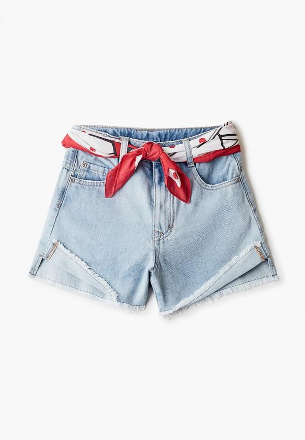 джинсовые шорты gulliver для девочки, голубые