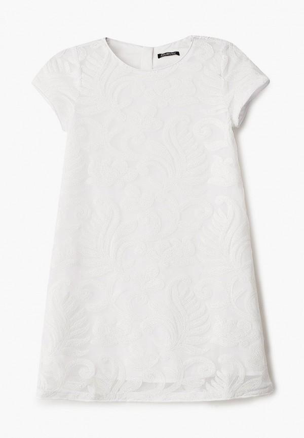 платье gulliver для девочки, белое