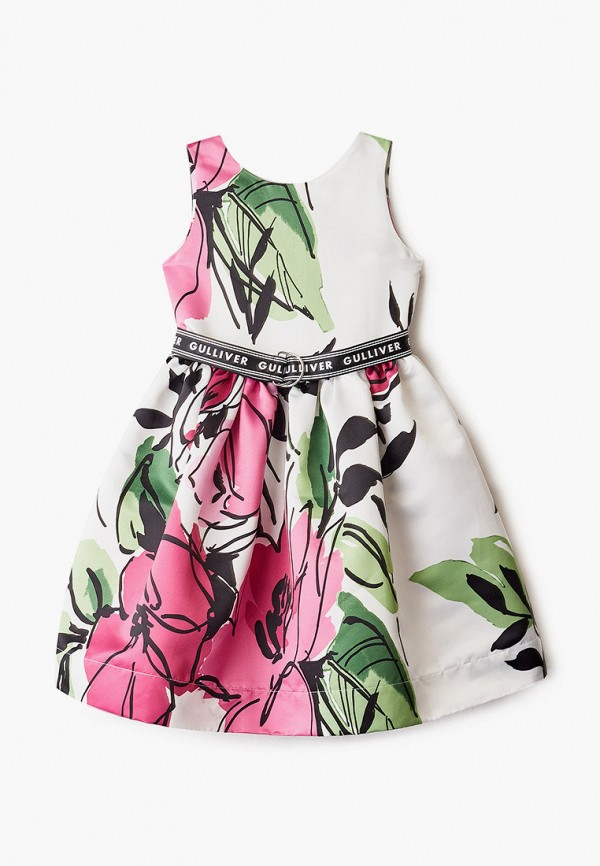 повседневные платье gulliver для девочки, разноцветное