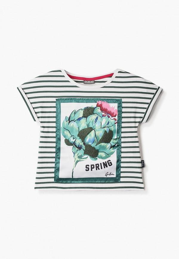 футболка с коротким рукавом gulliver для девочки, зеленая