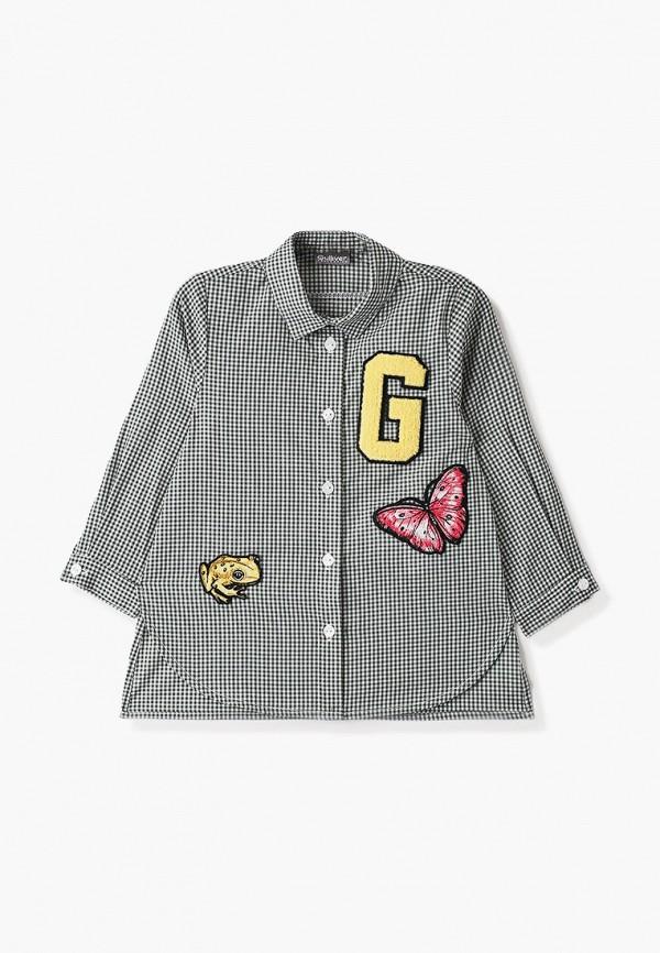 рубашка gulliver для девочки, зеленая