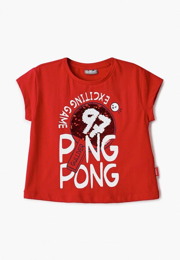 футболка с коротким рукавом gulliver для девочки, красная
