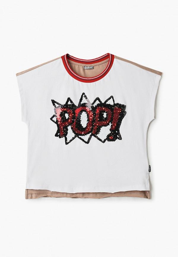 футболка с коротким рукавом gulliver для девочки, разноцветная