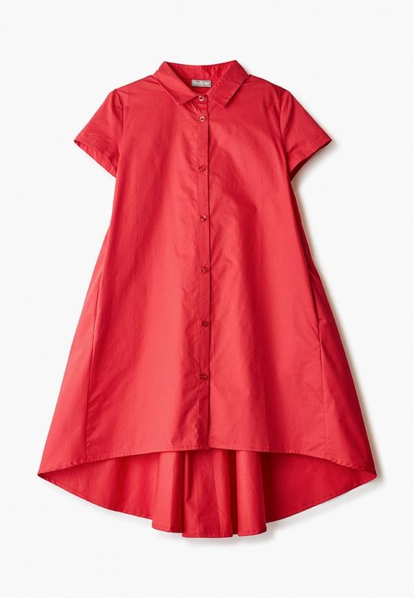 повседневные платье gulliver для девочки, красное