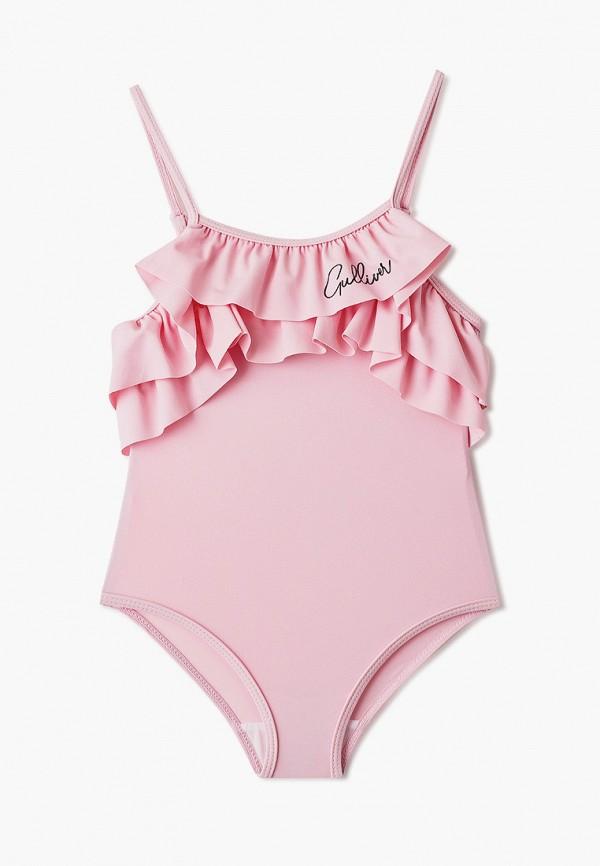 купальник gulliver для девочки, розовый