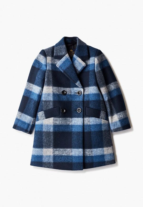 пальто gulliver для девочки, синее