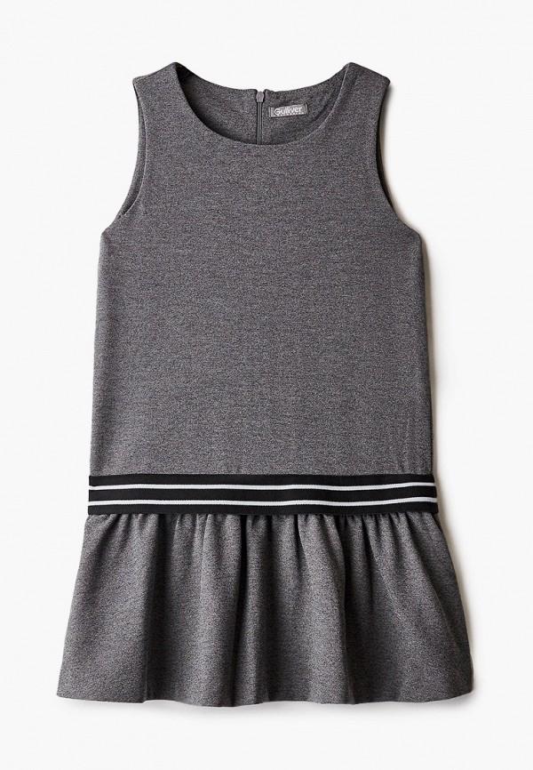повседневные платье gulliver для девочки, серое