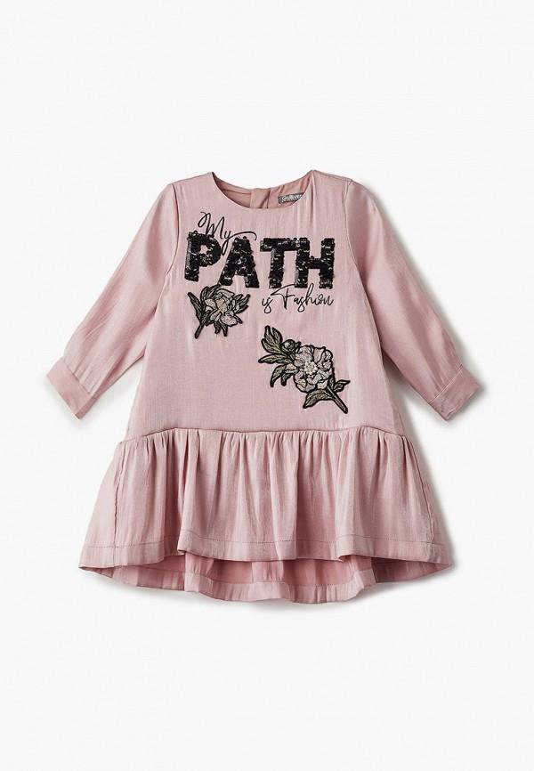 повседневные платье gulliver для девочки, розовое