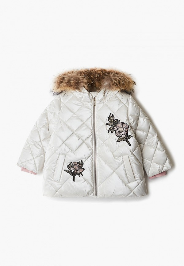куртка gulliver для девочки, белая