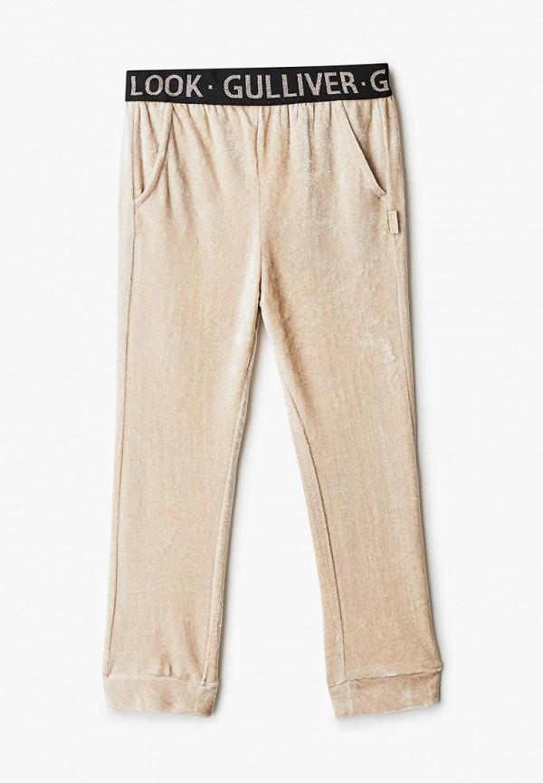 брюки gulliver для девочки, бежевые
