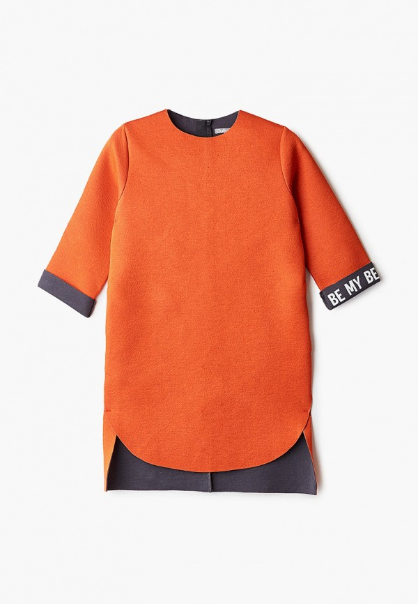 повседневные платье gulliver для девочки, оранжевое