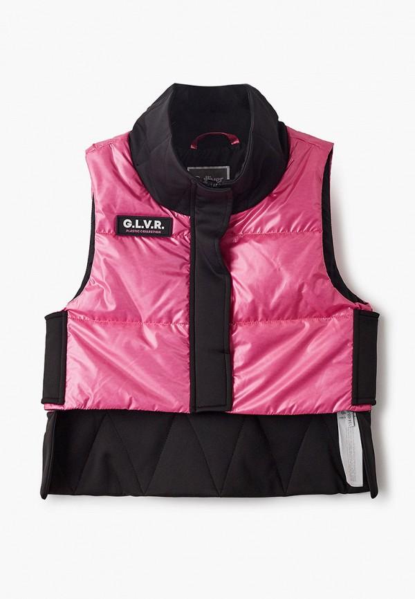 жилет gulliver для девочки, розовый