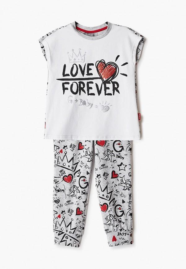 пижама gulliver для девочки, разноцветная