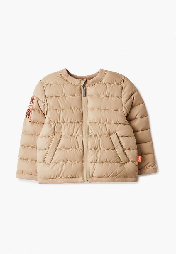 куртка gulliver для девочки, бежевая
