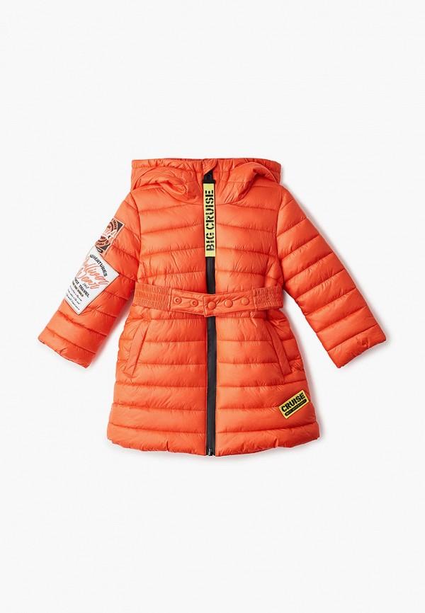 куртка gulliver для девочки, оранжевая