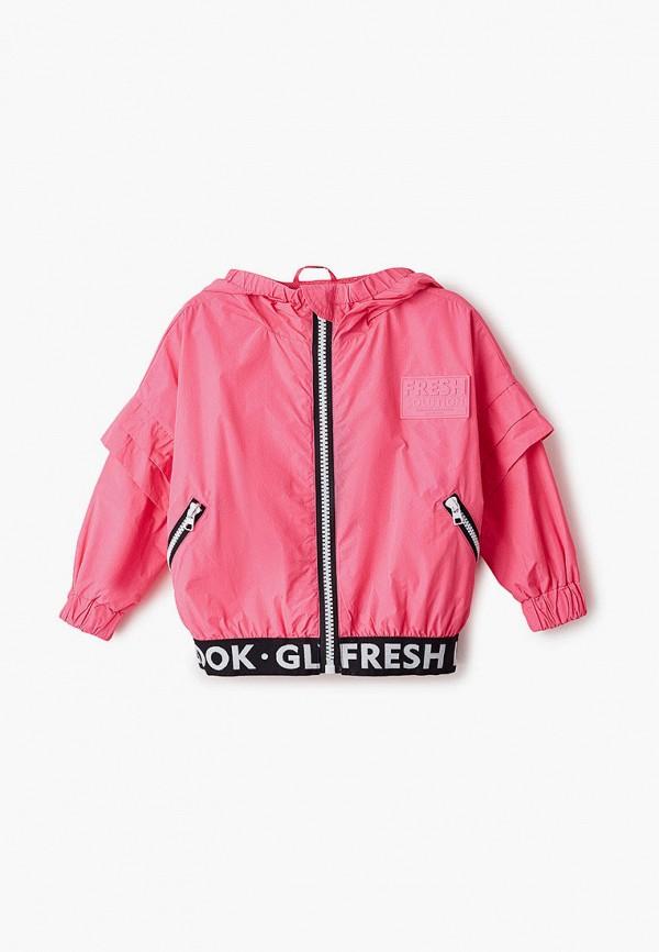 ветровка gulliver для девочки, розовая