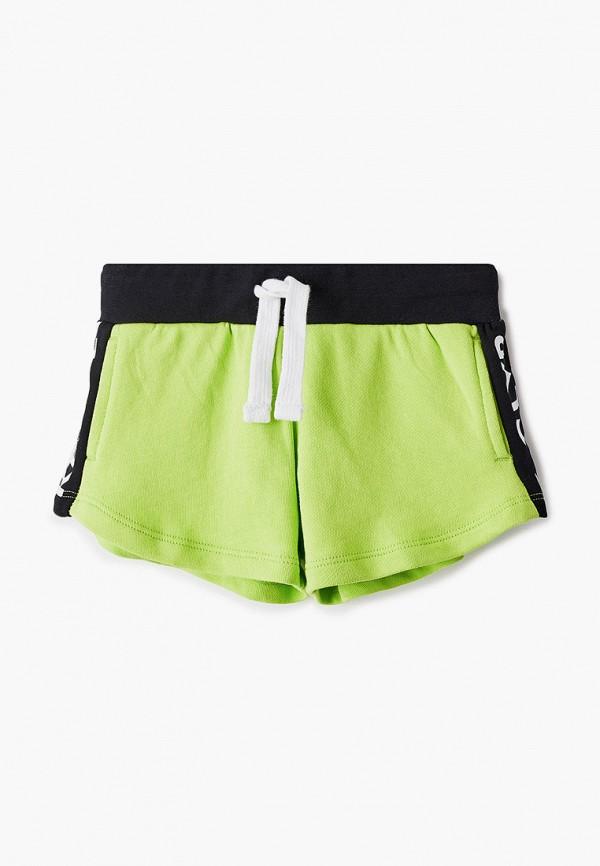 спортивные шорты gulliver для девочки, зеленые