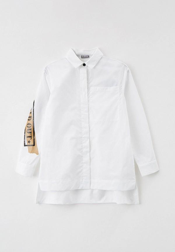 рубашка gulliver для девочки, белая