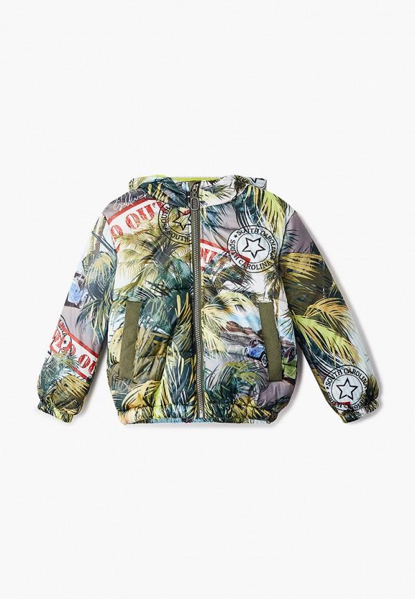 куртка gulliver для девочки, разноцветная