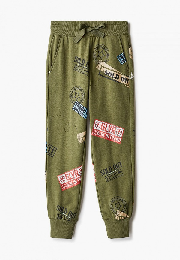 спортивные брюки gulliver для девочки, зеленые